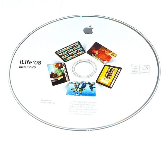 Original Apple DVD MAC iLife ' 08 Version 8.3 2Z691-6251-A RETAIL MB615D/A-0