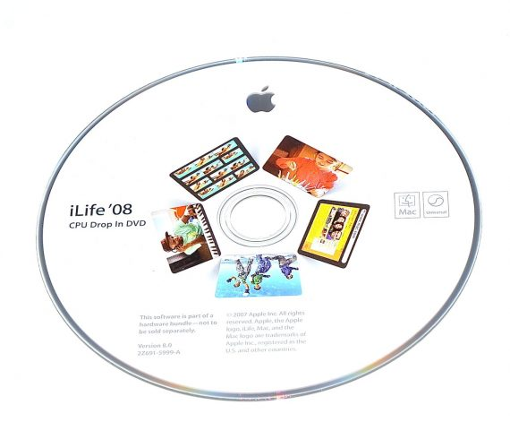 Original Apple DVD MAC iLife ' 08 Version 8.0 2Z691-5999-A RETAIL MB966D/A-0
