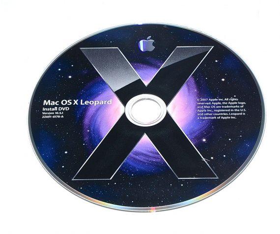 Original Apple DVD MAC OS X Version 10.5.1 Leopard 2Z691-6178-A-0