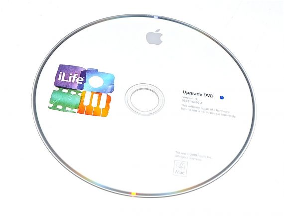 Original Apple DVD MAC iLife Version 11 2Z691-6680-A -0