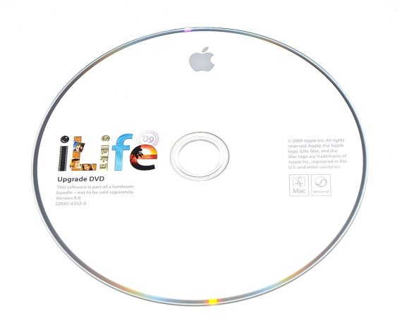 Original Apple DVD MAC iLife ' 09 Version 9.0 2Z691-6332-A -0