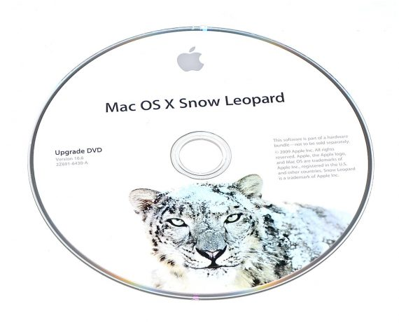 Original Apple DVD MAC OS X Version 10.6 Snow Leopard 2Z961-6430-A -0