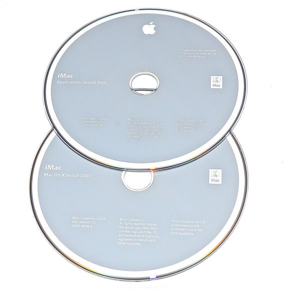 Original Apple Restore DVD MAC OS X iMac 2010 version 10.6.3 2Z961-6638-A -0