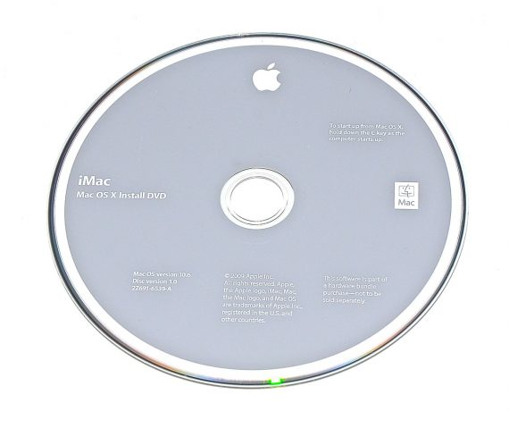 Original Apple Restore DVD MAC OS X iMac 2009 version 10.6 2Z961-6539-A -0