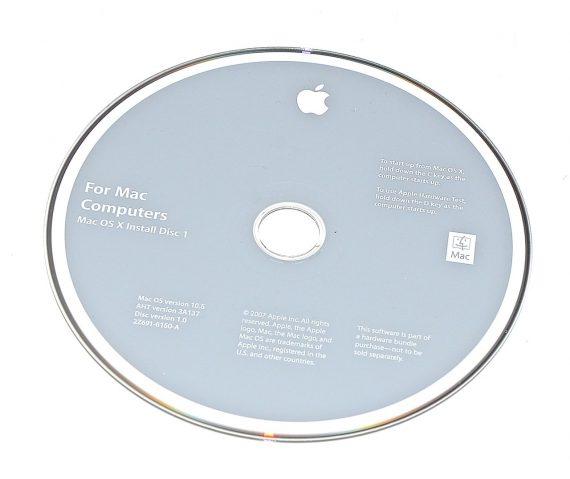 Original Apple Restore DVD MAC OS X 2007 version 10.5 2Z961-6150-A -0