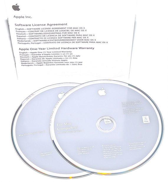Original Apple Restore DVD MAC OS X 2008 version 10.5.4 2Z961-6304-A -0