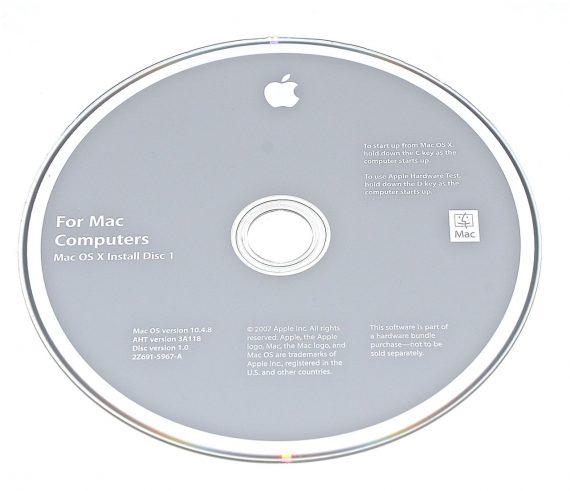 Original Apple Restore DVD MAC OS X 2007 version 10.4.8 2Z961-5967-A -0