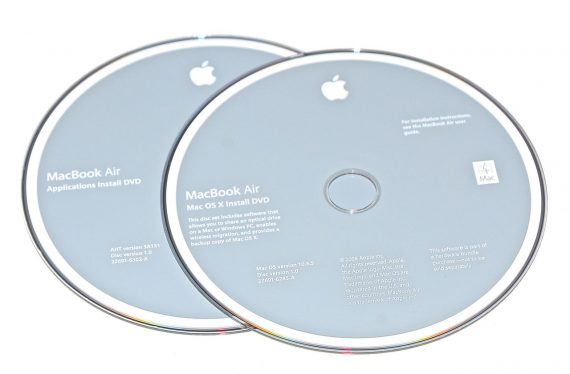 Original Apple Restore DVD MAC OS X version 10.5.5 2Z961-6285-A MacBook Air-0