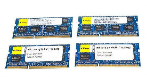 "Arbeitsspeicher RAM Elixir 16GB ( 4GB X 4GB ) PC3-10600S 1333 MHz DDR3 iMac 21.5"" A1311 Mid 2010-0"