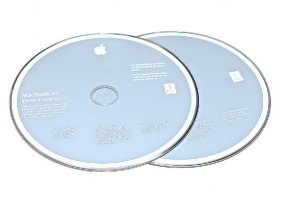 "Original Apple 2 DVD MAC OS X 10.5 MacBook Air 13"" Model A1237 -0"