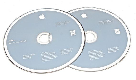 "Apple 2 DVD MAC OS X 10.6.7 iMac 27"" A1312 Mid 2011 -0"