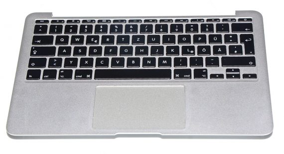 "Original Apple Topcase Tastatur Deutsch Trackpad MacBook Air 11"" Model A1370 Mid 2011 661-6072-0"