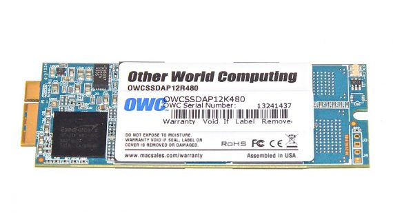 "SSD OWC 480 GB OWCSSDAP12K480 MacBook Pro 13"" Retina Late 2012 / Early 2013 Model A1425 661-7008-0"