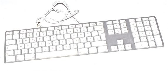 "Apple ALU Tastatur Deutsch USB mit Ziffernblock A1243 iMac 27"" A1312-0"